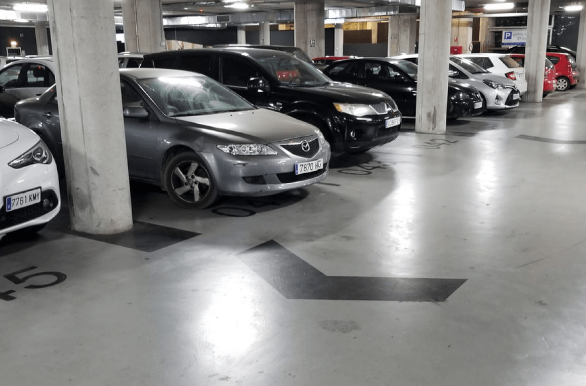Parking place booking module